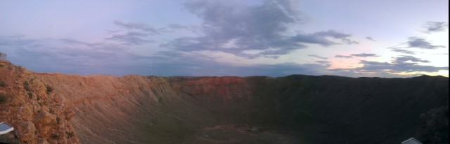 Not the best panoramic shot, but I think it still shows off how big this crater is.