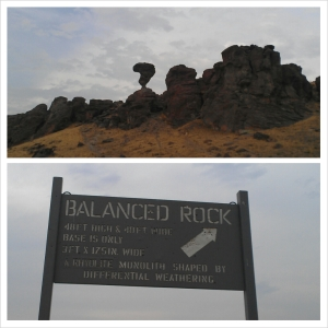 Those rocks have better balance than I do.